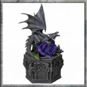 Dragon Beauty Trinket Box Secret Stash Ornament Statue Sculpture 25cm